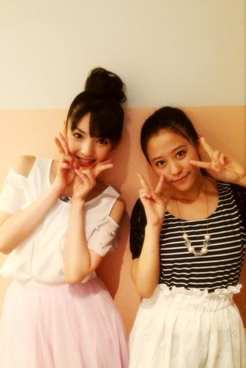 本日の道重さんのブログより、小田ちゃんとの2ショット。